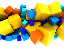 Abstract cubes background. Abstract 3d illustration of colorful cubes background Royalty Free Illustration
