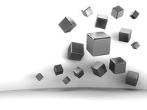 Abstract cubes background. Abstract 3d illustration of cubes over white background Stock Image