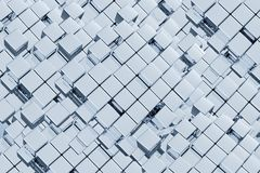 Abstract Cubes Background. Abstract 3D Metal Cubes Background. 3D Abstracts Collection Stock Image