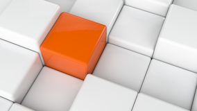 Abstract cubes background Royalty Free Stock Image