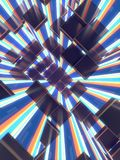 Abstract cubes background. 3d render illustration Stock Photo