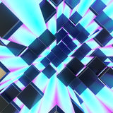 Abstract cubes background. 3d render illustration Stock Photos