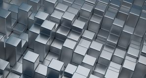Abstract Cubes Background. 3D Rendering Of Abstract Cubes Background stock illustration