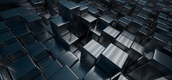 Abstract Cubes Background. 3D Rendering Of Abstract Cubes Background royalty free illustration