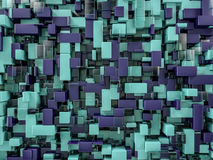 Abstract cubes background with glass. 3D Stock Photos