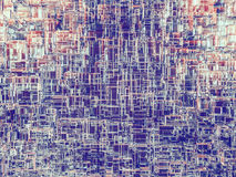 Abstract cubes background with glass. 3D Royalty Free Stock Photos