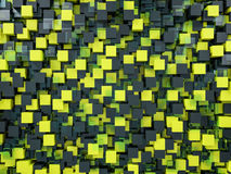 Abstract cubes background with glass. 3D Royalty Free Stock Photography
