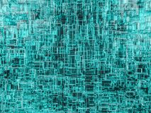 Abstract cubes background with glass. 3D Royalty Free Stock Images