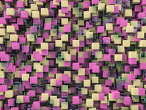 Abstract cubes background with glass. 3D Stock Images