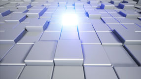 Abstract cubes. Background with the glowing cube. 3d cubic backg Stock Photo