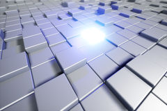 Abstract cubes. Background with the glowing cube. 3d cubic backg Royalty Free Stock Photo