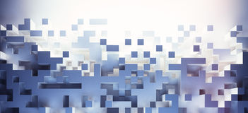 3D cube wallpaper. Abstract cubes background - hq lights Royalty Free Stock Photo