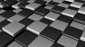 Abstract Cubes Background Random Motion. 3d rendering Royalty Free Stock Image