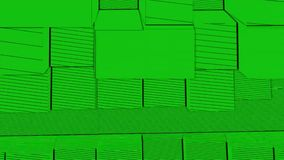 Abstract Cubes Background Random Motion, Loopable Animation. Green Cubes.  vector illustration