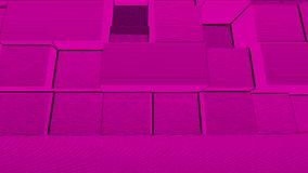 Abstract Cubes Background Random Motion, Loopable Animation. Pink Cubes.  royalty free illustration
