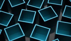 Abstract cubes background rendered. Blue abstract cubes background rendered stock illustration