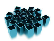 Abstract cubes background rendered. Blue abstract cubes background rendered Stock Photos
