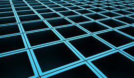 Abstract cubes background rendered. Blue abstract cubes background rendered Royalty Free Stock Photography