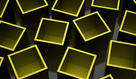 Abstract cubes background rendered. Green abstract cubes background rendered royalty free illustration