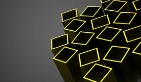 Abstract cubes background rendered. Green abstract cubes background rendered Vector Illustration