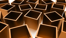 Abstract cubes background rendered. Orange abstract cubes background rendered Royalty Free Stock Photos