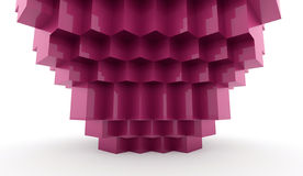 Abstract cubes background. Rendered pink Stock Photography