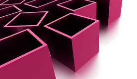 Abstract cubes background rendered. Pink abstract cubes background rendered Royalty Free Stock Photo
