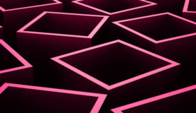 Abstract cubes background rendered. Pink abstract cubes background rendered vector illustration
