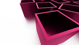 Abstract cubes background rendered. Pink abstract cubes background rendered Stock Images