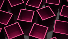 Abstract cubes background rendered. Pink abstract cubes background rendered Stock Photography