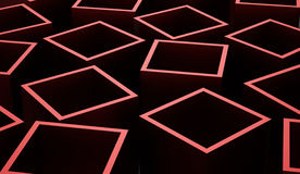Abstract cubes background rendered. Red abstract cubes background rendered Royalty Free Stock Photography
