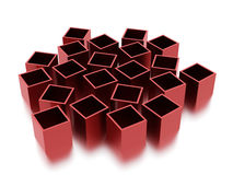 Abstract cubes background rendered. Red abstract cubes background rendered Vector Illustration