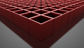 Abstract cubes background rendered. Red abstract cubes background rendered Royalty Free Stock Images