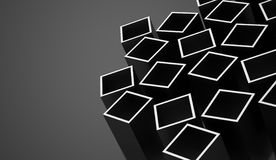 Abstract cubes background rendered. Silver abstract cubes background rendered vector illustration