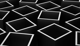 Abstract cubes background rendered. Silver abstract cubes background rendered Stock Photography