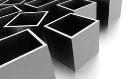 Abstract cubes background rendered. Silver abstract cubes background rendered Stock Photo