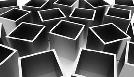 Abstract cubes background rendered. Silver abstract cubes background rendered Stock Photos