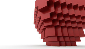 Abstract cubes background. Rendered on white Stock Photos