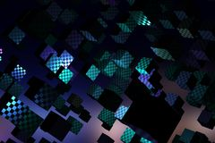 Abstract cubes background. Web design concept. 3D Rendering stock illustration