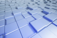 Abstract cubes. Blue background with box. 3d cubic background. 3. D rendering Royalty Free Stock Photo