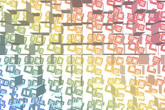 Abstract Cubes. Colorful 3D Abstract Cubes Background Royalty Free Stock Photography