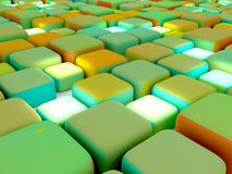 Abstract Cubes Colorful Side. Colorful abstract with cubes and colorful, side view royalty free illustration