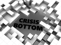 Abstract cubes and crisis Stock Photo