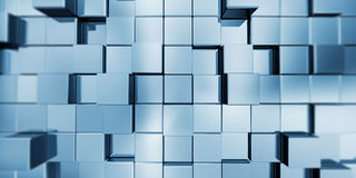 Abstract cubes. 3d render image Royalty Free Stock Images
