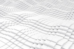 Abstract cubes in the form of a wave. 3d illustration Royalty Free Stock Image