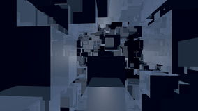 Abstract cubes stock video