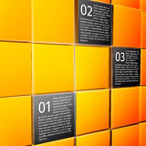 Abstract cubes infographic design elements. Abstract 3d cubes wall infographic design elements layout template for presentation report vector illustration Royalty Free Stock Image