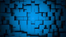 Abstract cubes move, 3D animation. Seamless Looping Abstract Cubes Background. Cubes are composed in the background for. Copy space Stock Images