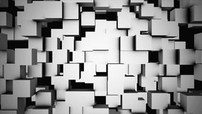 Abstract cubes move, 3D animation. Seamless Looping Abstract Cubes Background. Cubes are composed in the background for. Copy space Stock Photos