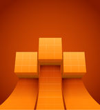 Abstract cubes moving up Stock Photography